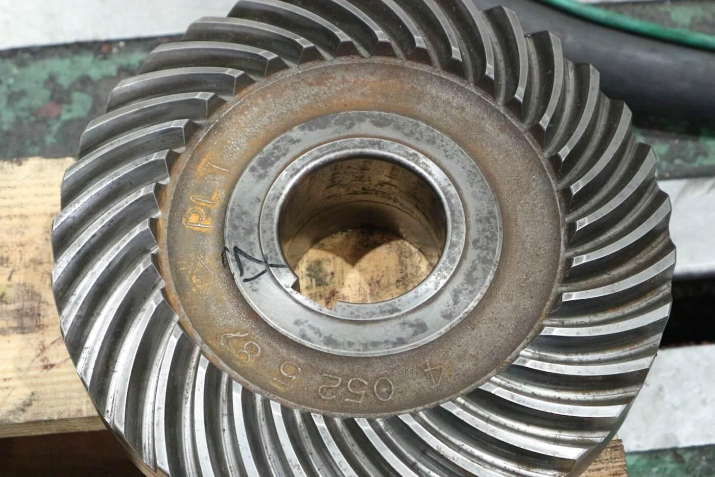 減速機のギヤが損傷