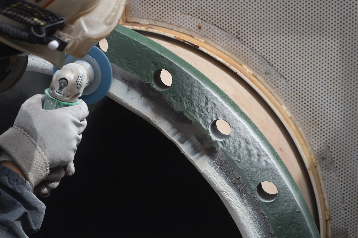 ORV設備海水ポンプ出側配管フランジ補修