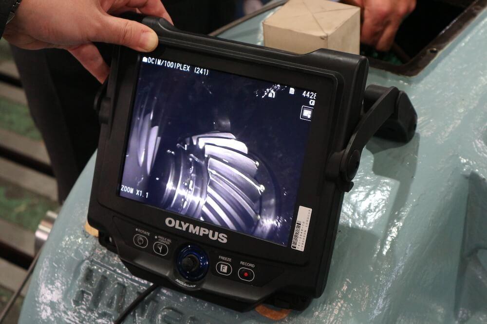 ビデオスコープを使った内部点検