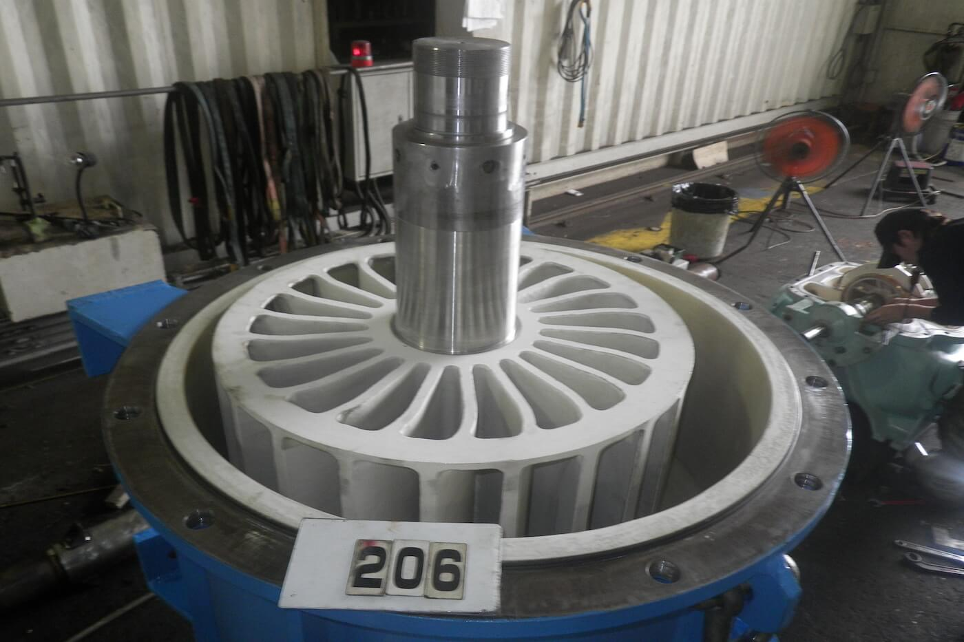 ポンプのオーバーホールと一緒に、消耗部品の交換・コーティング・溶射補修